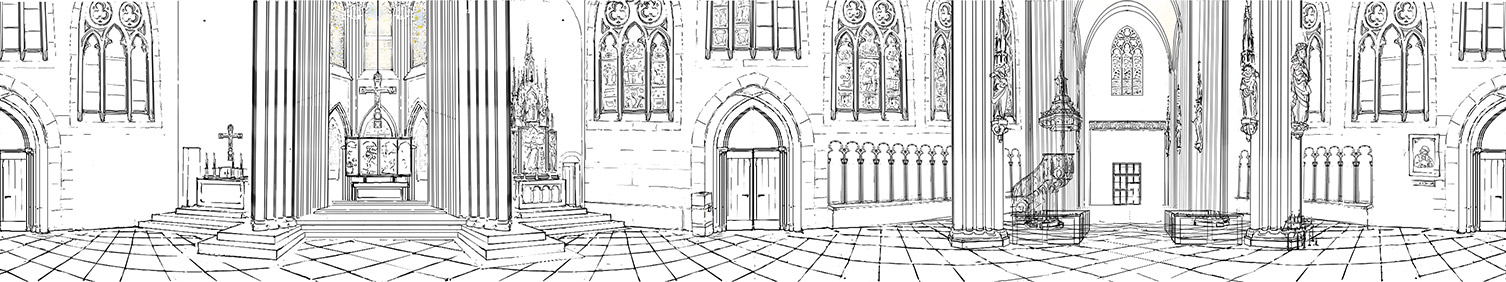 e-learning illustration animation - Stadt im Mittellater